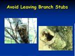 avoid leaving branch stubs