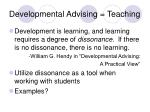 developmental advising teaching