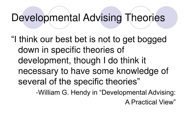 Developmental Advising Theories
