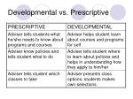 developmental vs prescriptive2