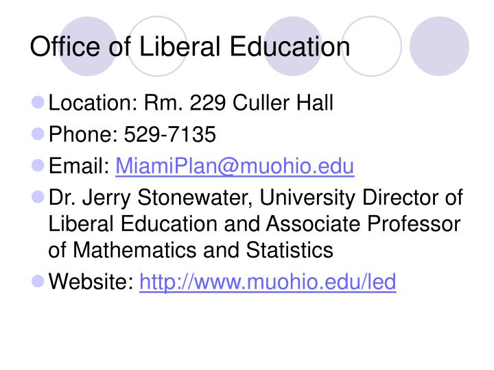 Office of Liberal Education