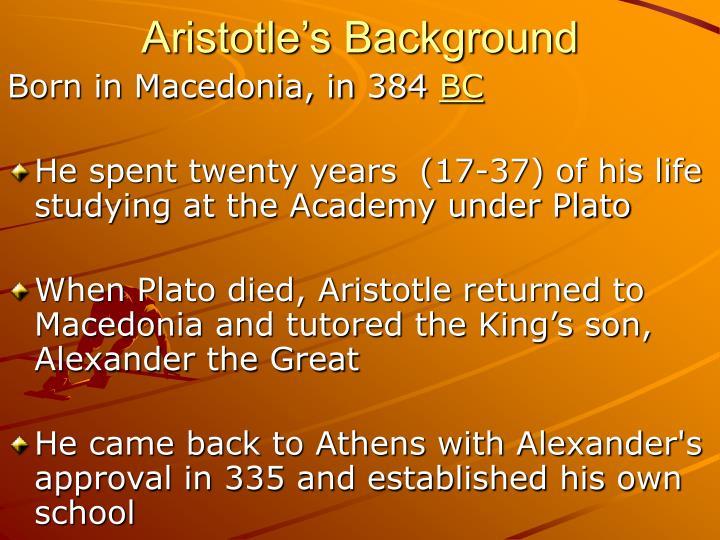 Aristotle's Background