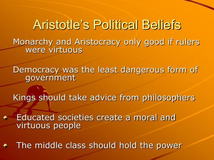 Aristotle's Political Beliefs