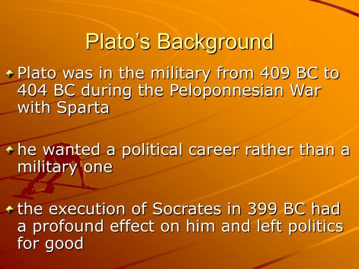 Plato's Background