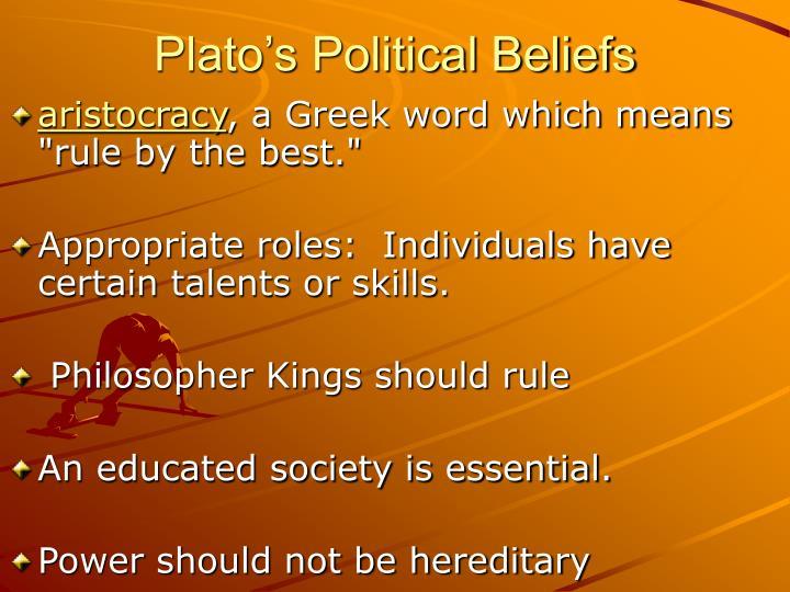 Plato's Political Beliefs