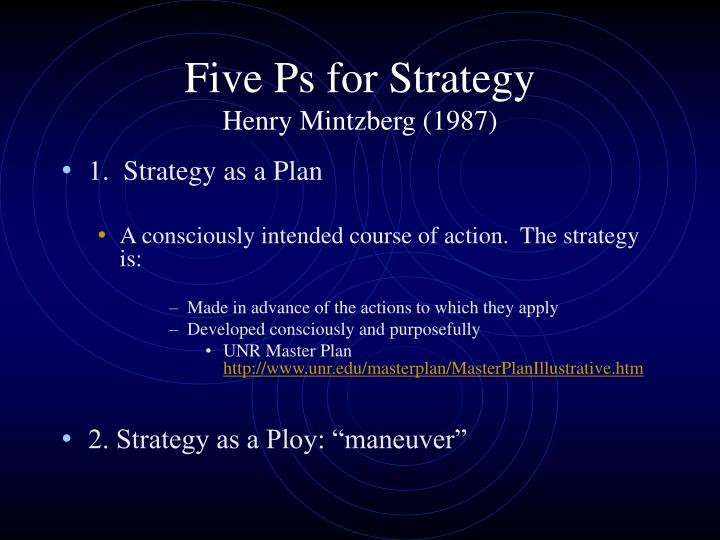 Five Ps for Strategy