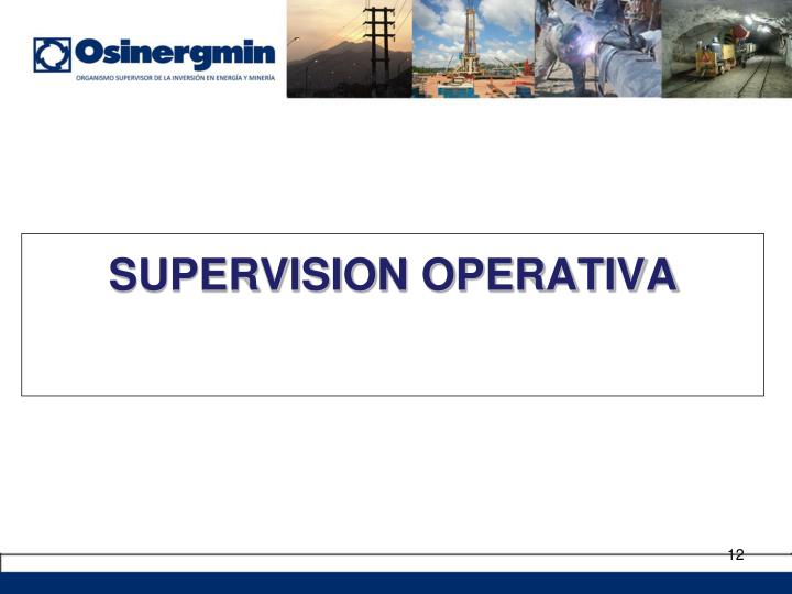 SUPERVISION OPERATIVA