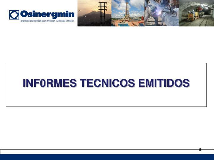 INF0RMES TECNICOS EMITIDOS