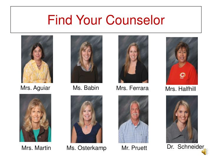 Find your counselor