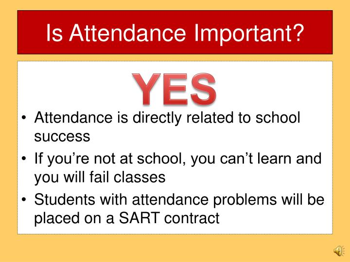 Is Attendance Important?