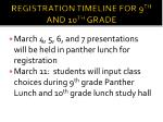registration timeline for 9 th and 10 th grade