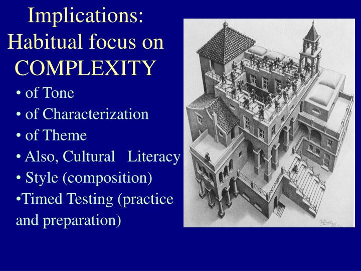 Implications: Habitual focus on COMPLEXITY