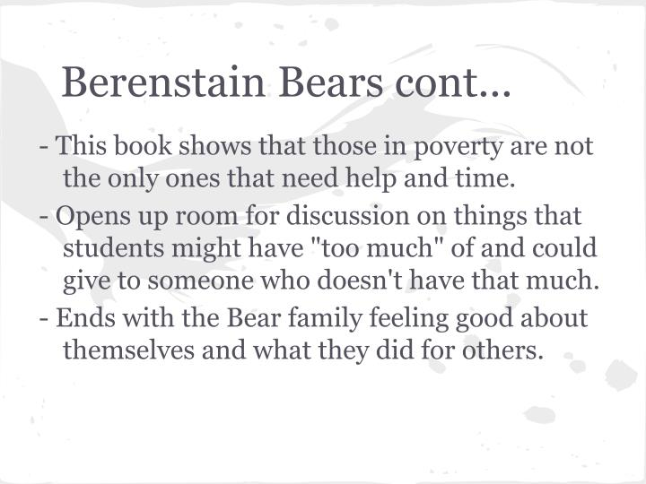 Berenstain Bears cont...