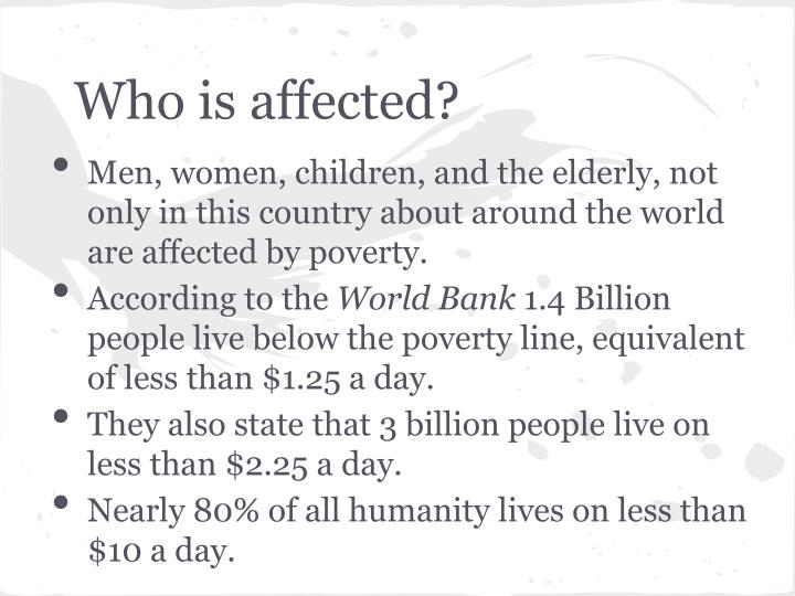 Who is affected
