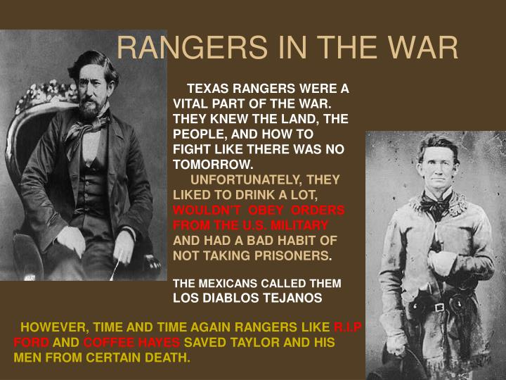 RANGERS IN THE WAR