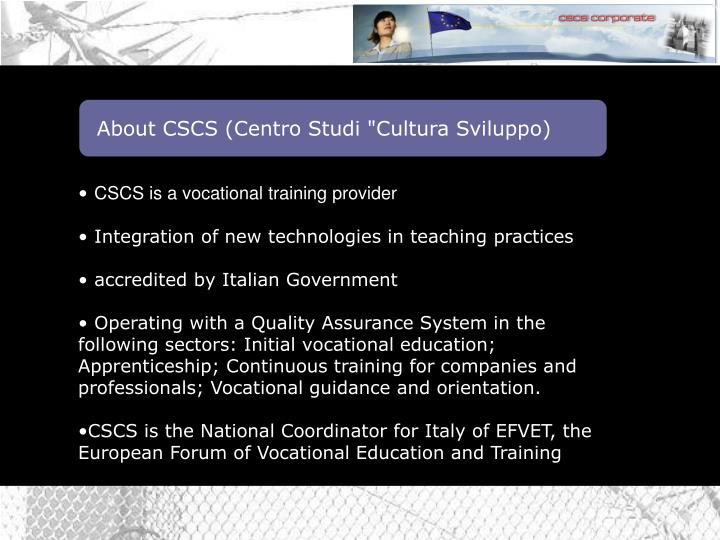 About CSCS (