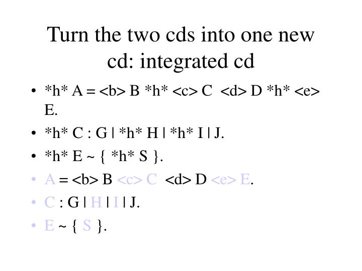 Turn the two cds into one new cd: integrated cd