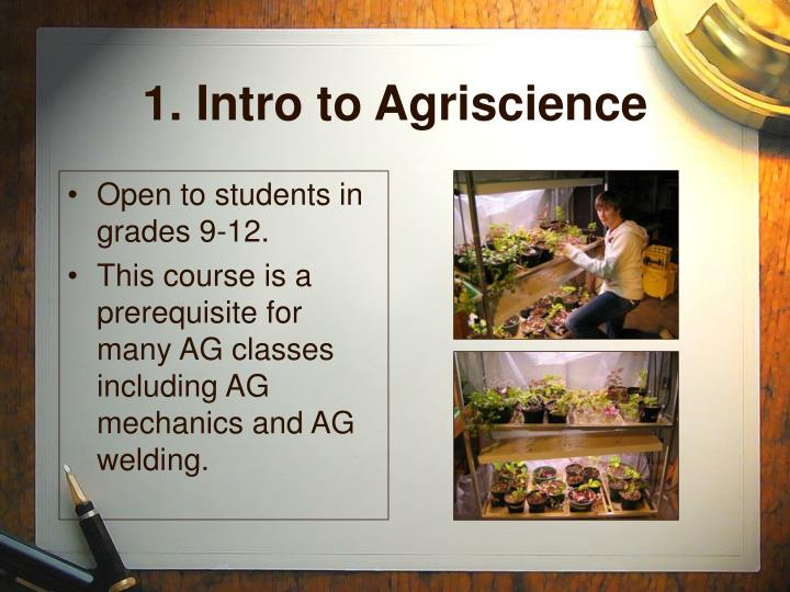 1. Intro to Agriscience