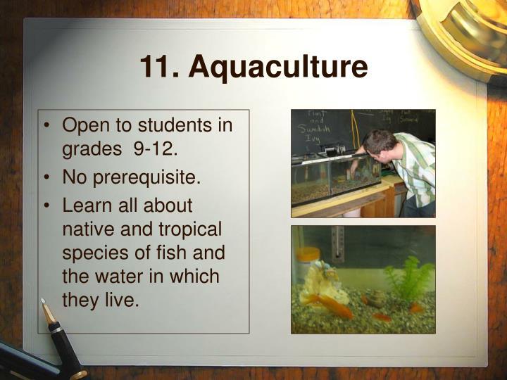 11. Aquaculture
