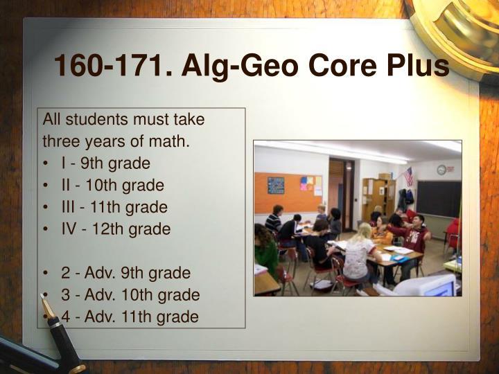 160-171. Alg-Geo Core Plus