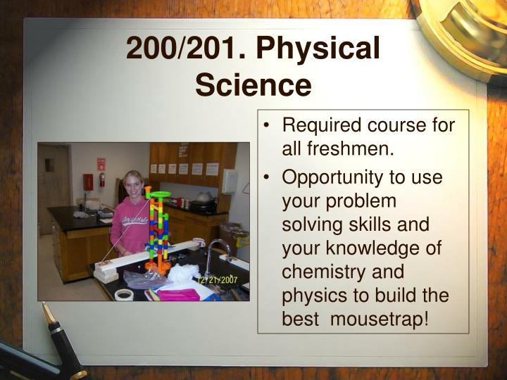 200/201. Physical Science