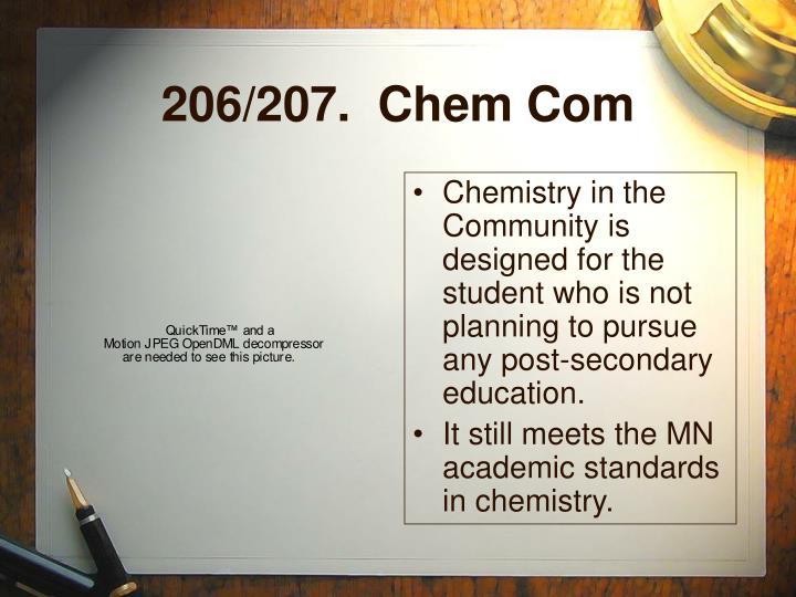 206/207.  Chem Com