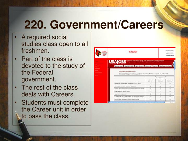 220. Government/Careers