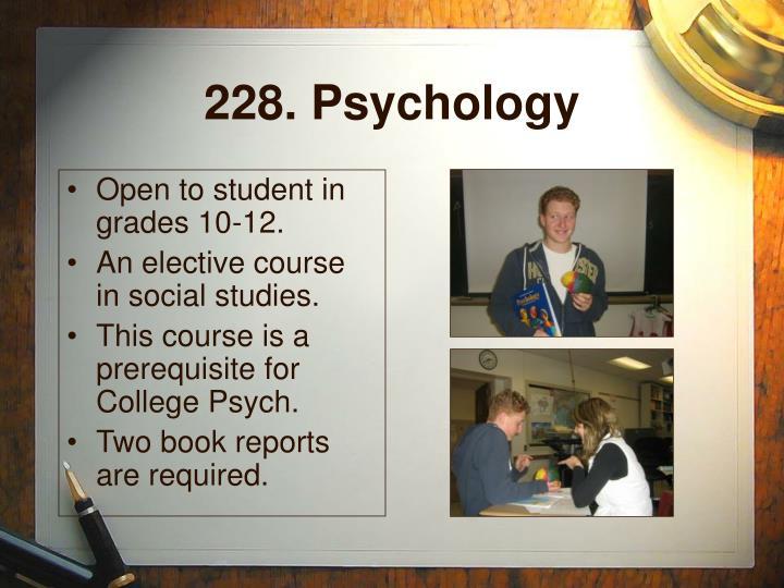 228. Psychology