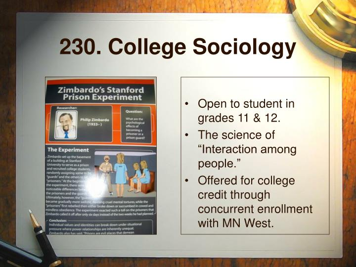 230. College Sociology