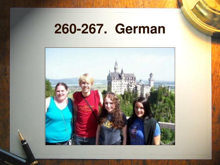 260-267.  German
