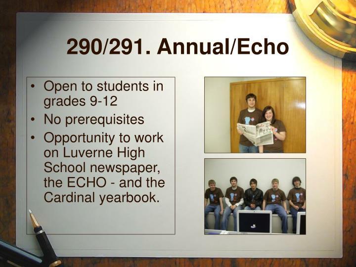 290/291. Annual/Echo