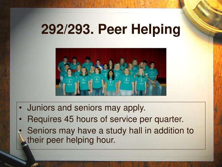 292/293. Peer Helping