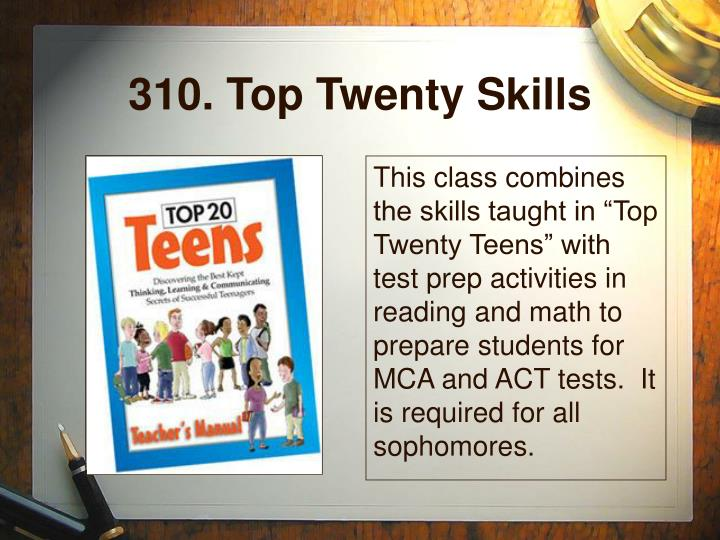 310. Top Twenty Skills