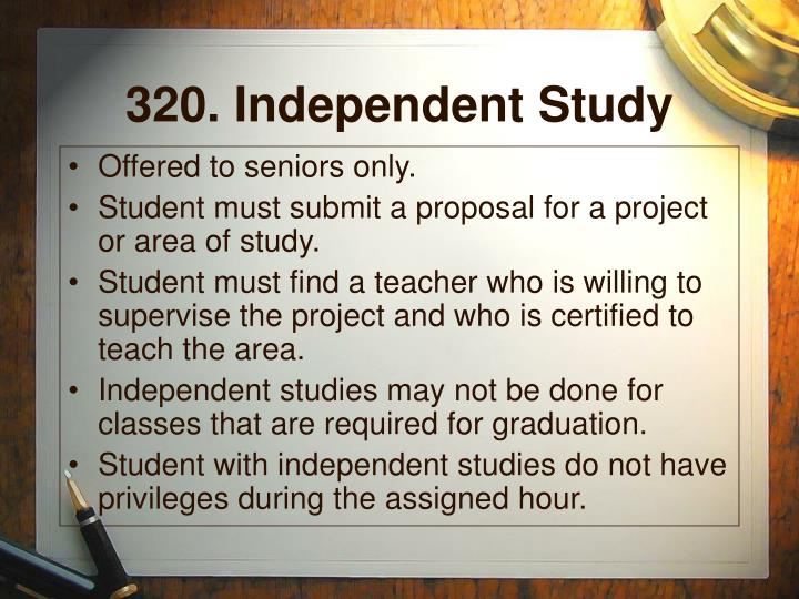 320. Independent Study