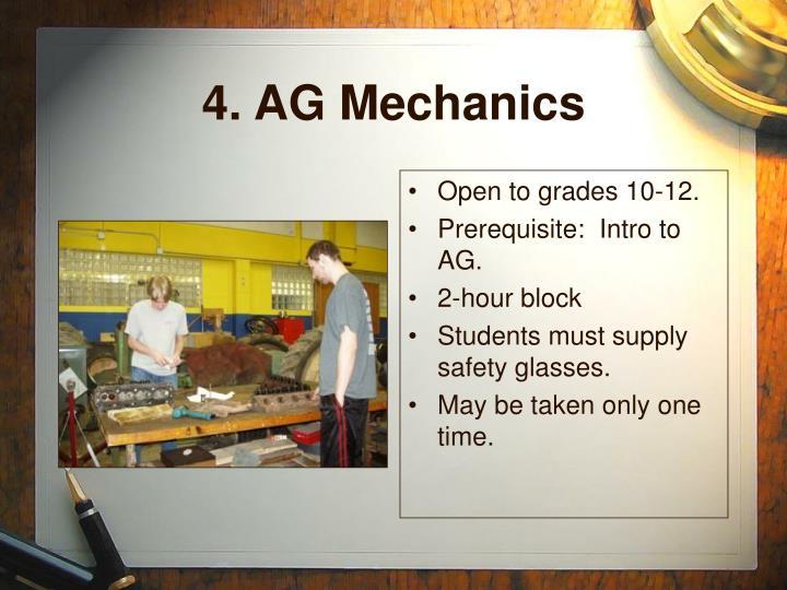 4. AG Mechanics