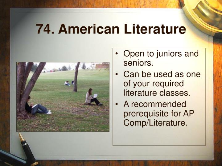 74. American Literature