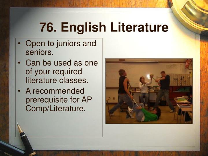 76. English Literature