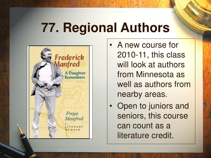 77. Regional Authors
