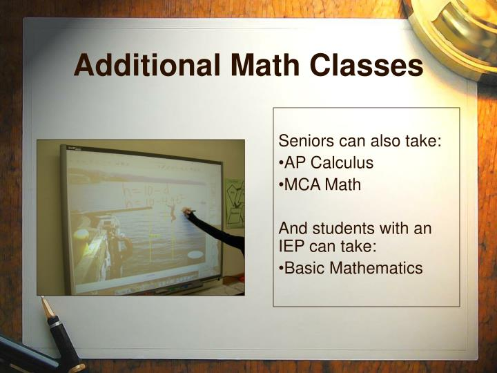 Additional Math Classes