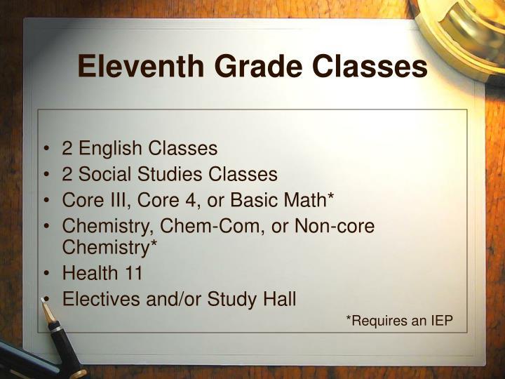 Eleventh Grade Classes