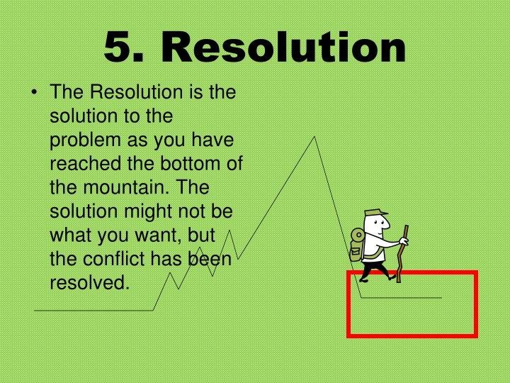 5. Resolution