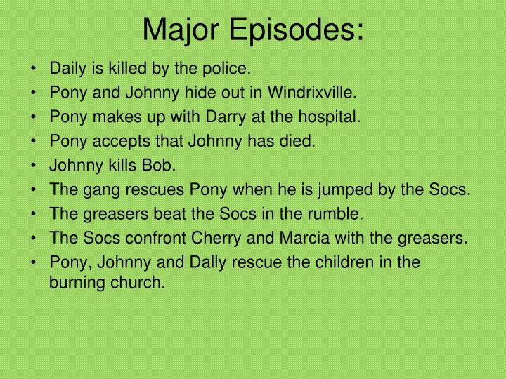 Major Episodes: