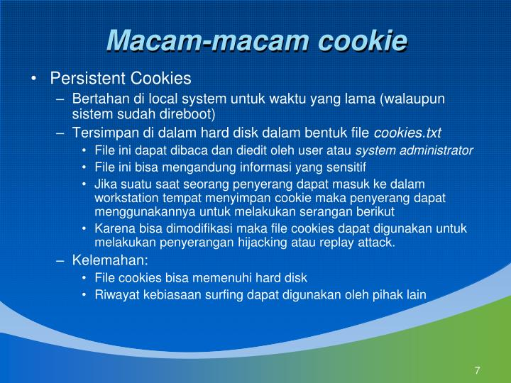 Macam-macam cookie
