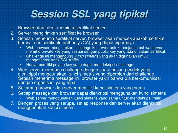 Session SSL yang tipikal