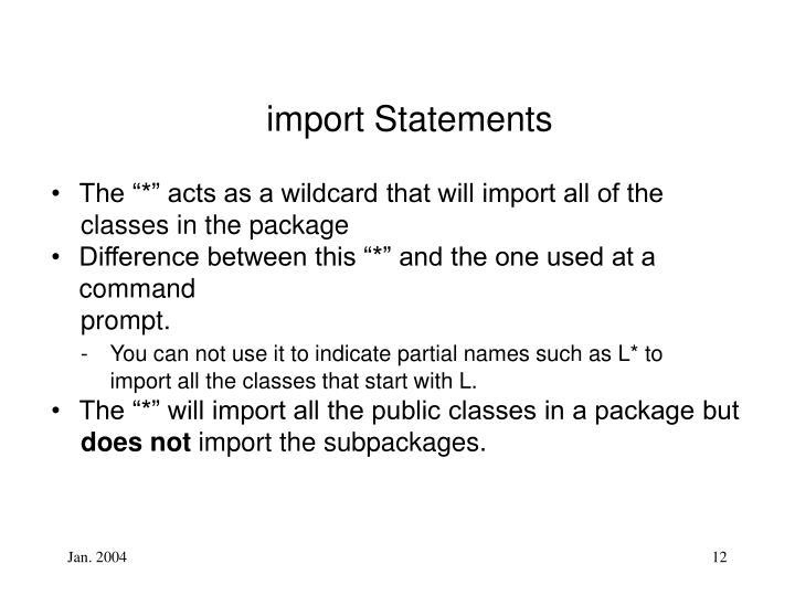 import Statements