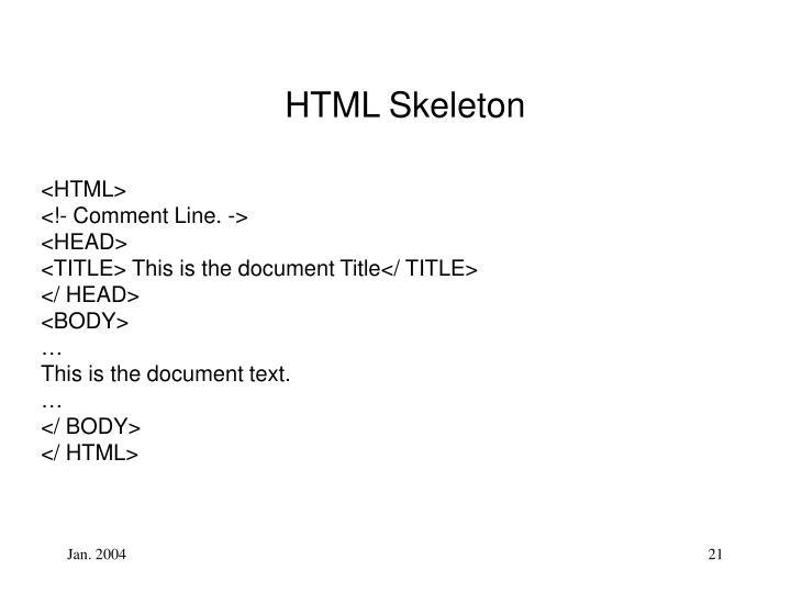 HTML Skeleton