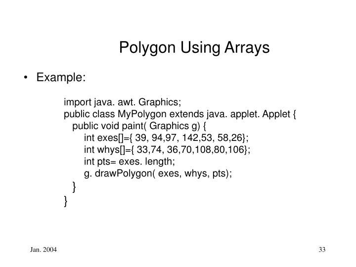Polygon Using Arrays