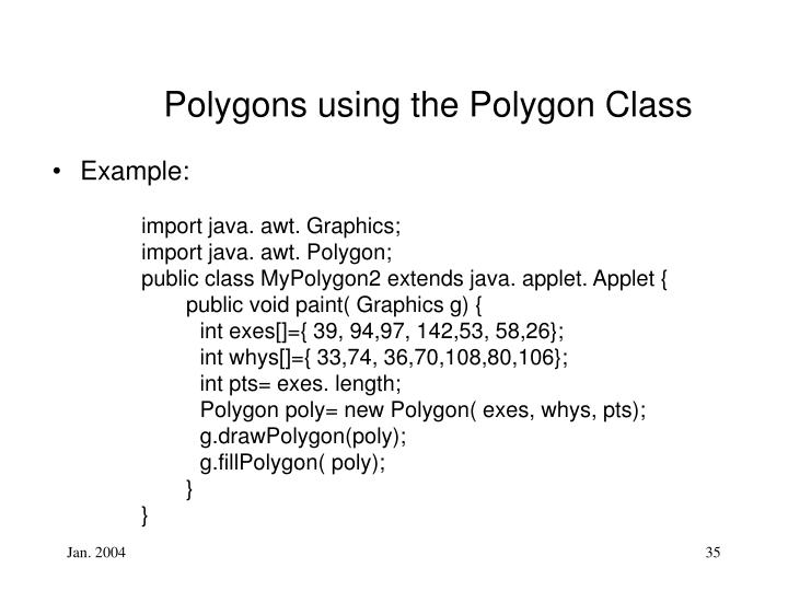 Polygons using the
