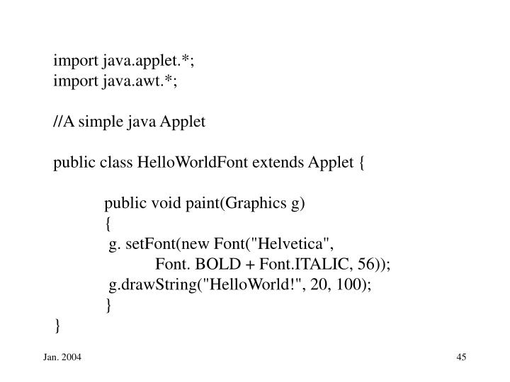 import java.applet.*;