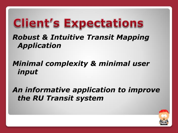 Robust & Intuitive Transit Mapping Application